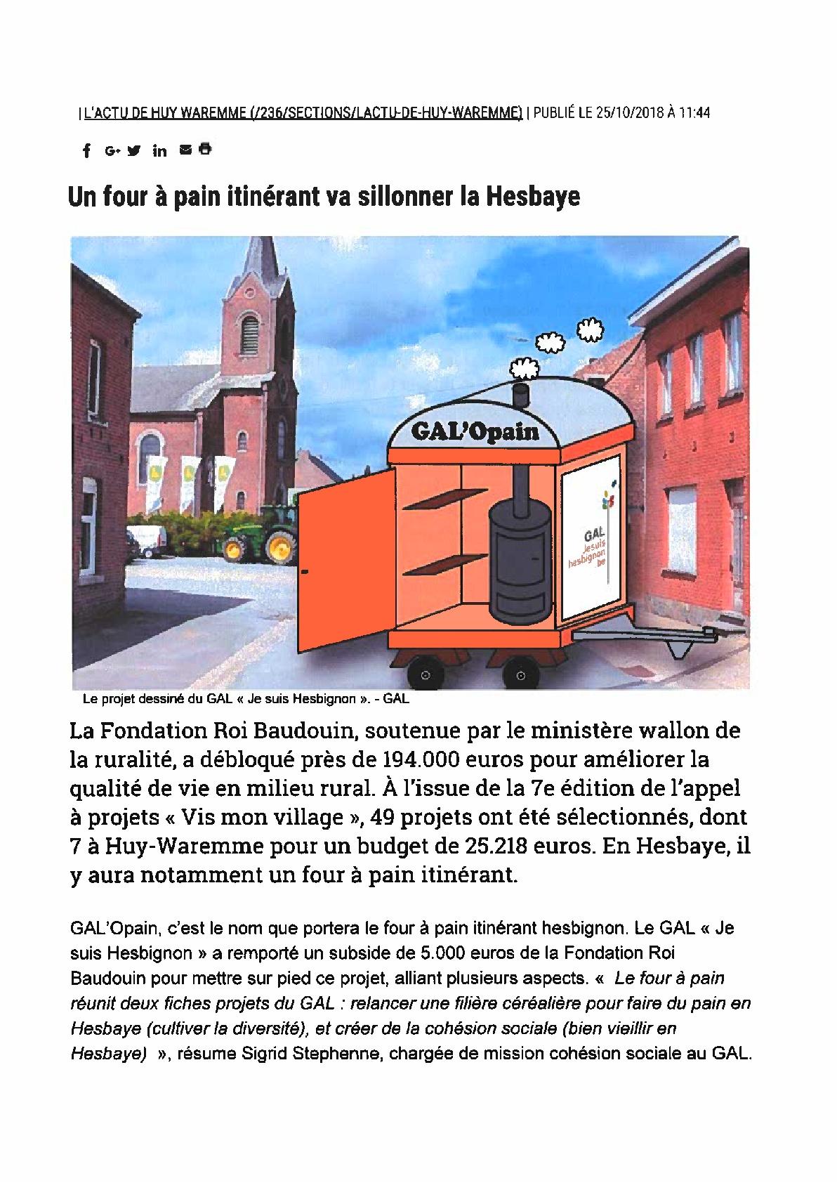 Le GAL'Opain – La Meuse