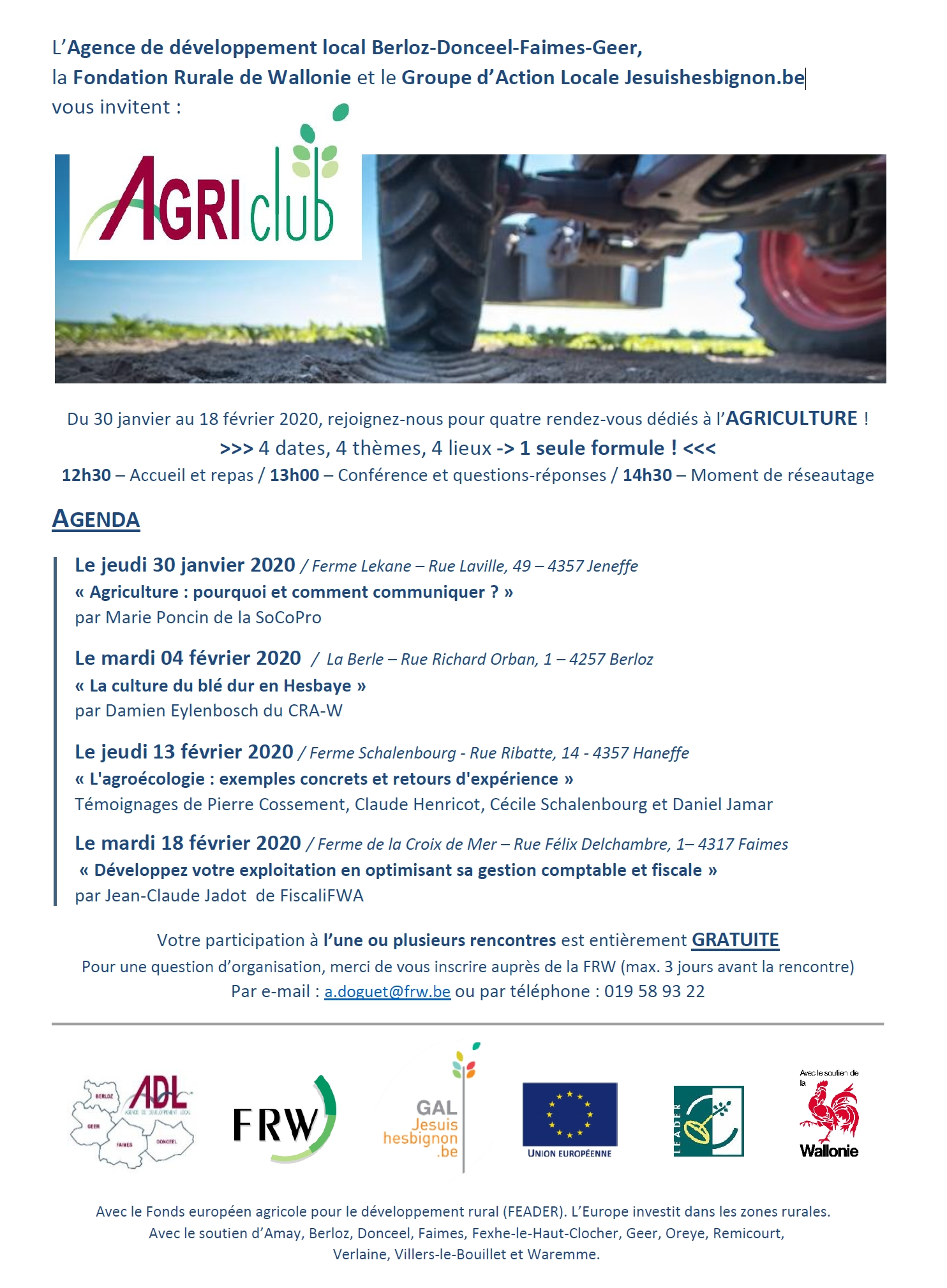 Cycle d'AgriClubs 2020