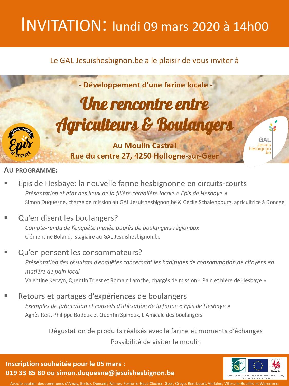 Rencontre «Agriculteurs & Boulangers»