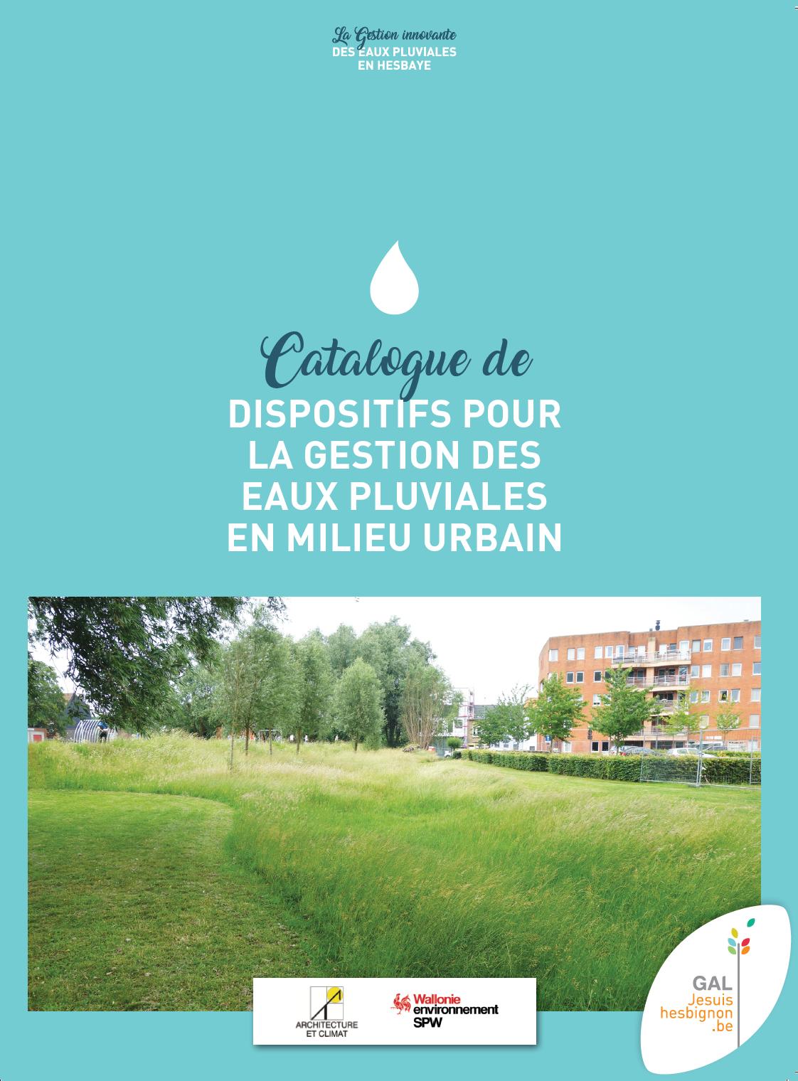 Catalogue de dispositifs pour la gestion des eaux pluviales en milieu urbain