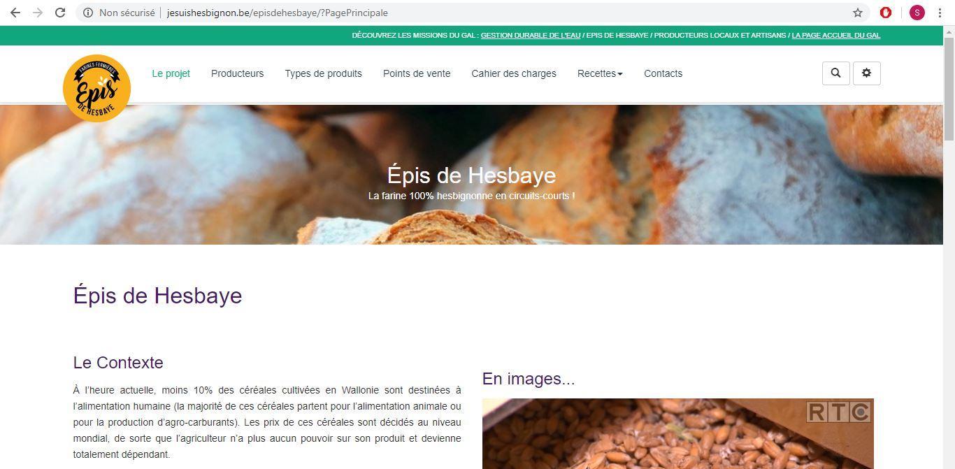 Le nouveau site «Épis de Hesbaye» est en ligne!