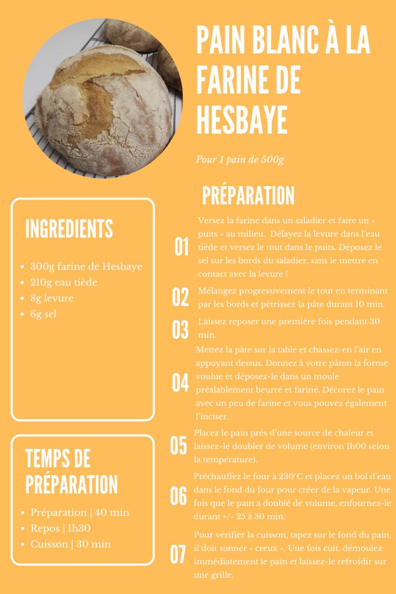 Pain blanc de Hesbaye… la recette!