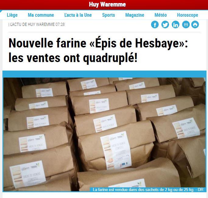 La farine Épis de Hesbaye est dans la presse!